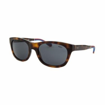 Polo By Ralph Lauren Ph4077-5303-87 Rectangle Tortoise Red & Blue Accents Sunglasses