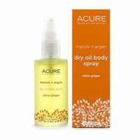 Marula + Argan Dry Oil Body Spray Citrus Ginger Acure Organics 2 oz Liquid
