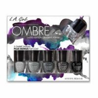 (6 Pack) LA GIRL Ombre Limited Edition Gradient Polish Set - Midnite - Midnite