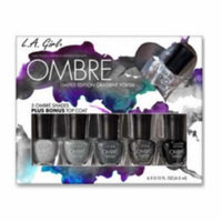 (6 Pack) LA GIRL Ombre Limited Edition Gradient Polish Set - Midnite - Midnite