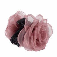 Lady Plastic 12 Claws Flower Decor Hair Clip Barrette Claw Clamp Light Purple