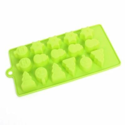 Kitchen Coffee Shop Silicone Rectangle Cake Candy Chocolate Mold Green