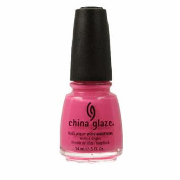 (3 Pack) CHINA GLAZE Nail Lacquer with Nail Hardner - Shocking Pink