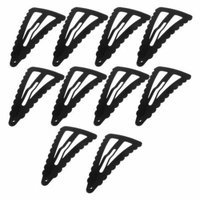 5 Pairs Black Chevron Shaped Metal Bendy Snap Hair Clip for Girls