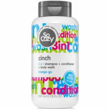 So Cozy Cinch 3 in 1 Shampoo + Conditioner + Body Wash Mango-go, 32.0 oz.