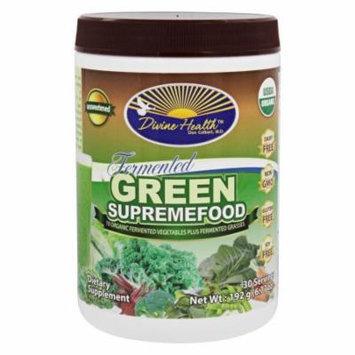 Divine Health - Organic Fermented Green Supremefood Unsweetened - 6.77 oz.