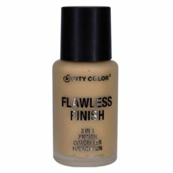 CITY COLOR Flawless Finish 3 In 1 Primer, Concealer Foundation - Medium