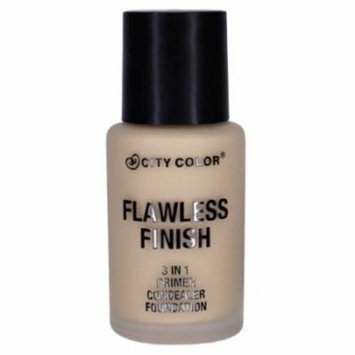 CITY COLOR Flawless Finish 3 In 1 Primer, Concealer Foundation - Light
