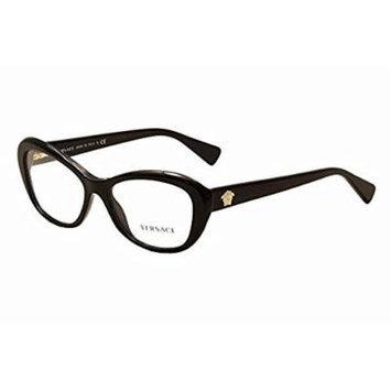 Versace Women's VE3216 Eyeglasses Black 54mm & Cleaning Kit Bundle
