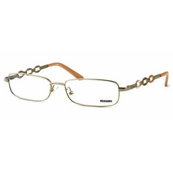 Missoni Designer Optical Eyeglasses MI11702 in Gold ; DEMO LENS