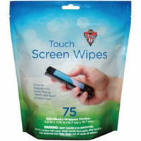 Dust Off DTSW75 Touchscreen Wipes, 75-Count