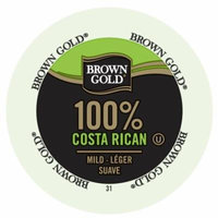 Brown Gold Coffee 100% Costa Rican, RealCup Portion Pack For Keurig Brewers, 144 Count