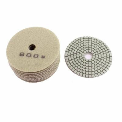 Diamond Polishing Pads for Granite Marble Concrete 800 Grit 100mm Dia 10 Pcs
