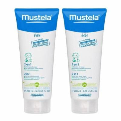 Mustela Bebe Range 2 in 1 Hair & Body Wash - 6.76 fl oz - 2 pk