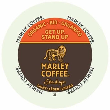 Marley Coffee Get Up Stand Up, Light, Organic, RealCup Portion Pack For Keurig Brewers, 96 Count