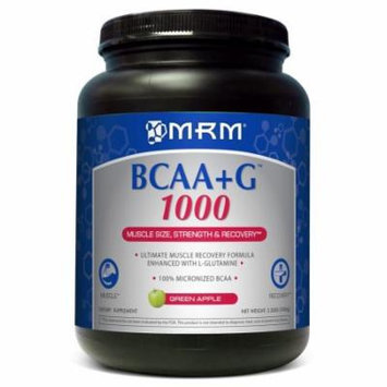 BCAA + G 1000g Ultimate Recovery Formula - Green Apple MRM (Metabolic Response Modifiers) 1000 g Powder