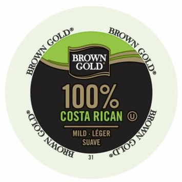 Brown Gold Coffee 100% Costa Rican, RealCup Portion Pack For Keurig Brewers, 96 Count