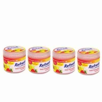 4-Pack Refresh Your Car 4.5oz Gel Can Strawberry/Lemonade Car Air Freshener