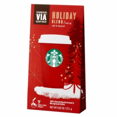 Starbucks Coffee Via Instant Coffee, Holiday Blend, 7 ea