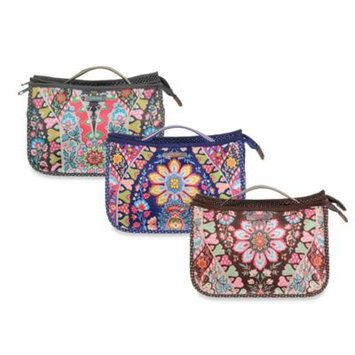Oilily Travel Folded Cosmetic Bag Charcoal - Oilily Ladies Cosmetic Bags