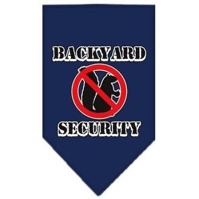 Mirage Pet Products Backyard Security Screen Print Bandana for Pets, Small, Navy Blue