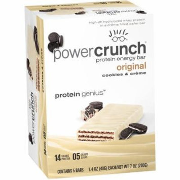 Power Crunch Cookies & Creme Original Protein Energy Bars, 1.4 oz, 5 count