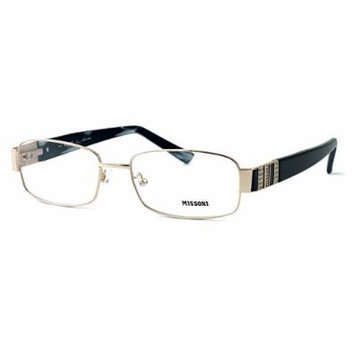 Missoni Designer Optical Eyeglasses MI14801 in Gold/Black ; DEMO LENS