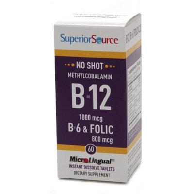 Superior Source No Shot Methylcobalamin B12/B6/Folic Acid 800mcg