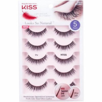 KISS Looks So Natural Shy False Eyelashes, 5 pr