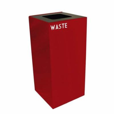 GeoCube Collection 32 Gal. Waste and Plastic Recycling Container (Slate)