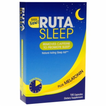 RUTA SLEEP Natural Acting Sleep Aid, Capsules, 14 ea