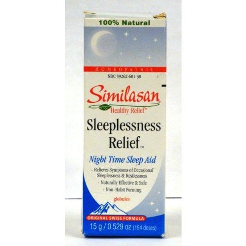 Similasan Sleeplessness Relief Globules, Night Time Sleep Aid .529 Oz / 154 Doses (Pack of 3)