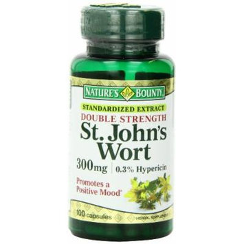 Nature's Bounty St. John's Wort Double Strength Capsules, 300 mg, 2 Count