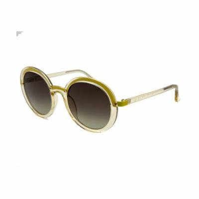 Calvin Klein 1201S-375 Women's Round Translucent Yellow Sunglasses