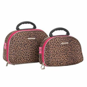 Rockland Luggage 2 Piece Matching Cosmetic Case Set in Animal Print