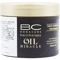 Schwarzkopf 16282800744 BC Oil Miracle Gold Shimmer Treatment - For All Hair Types - 150ml-5oz