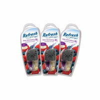 3-Pack Refresh Your Car Vent Wick- Mixed Berries/Cream