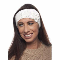 Greatlookz Girls Snow Dusted Poppy Knit Headband with Sequins
