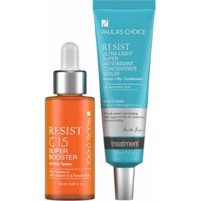 Paula's Choice RESIST C15 Super Booster + RESIST Ultra-Light Super Antioxidant Concentrate Serum - Complete Duo