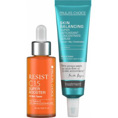 Paula's Choice RESIST C15 Super Booster + SKIN BALANCING Super Antioxidant Concentrate Serum with Retinol - Complete Duo