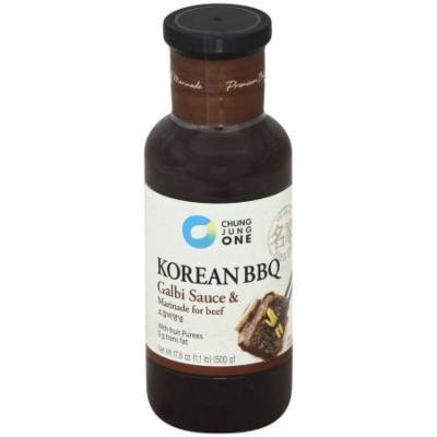 Chung Jung One Korean BBQ Galbi Sauce & Marinade for Beef, 17.6 oz, (Pack of 6)