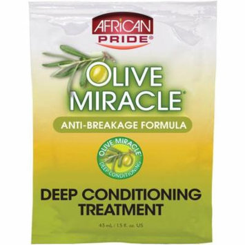African Pride Olive Miracle Anti-Breakage Formula Deep Conditioning Treatment, 1.5 fl oz