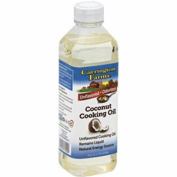 Carrington Farms Organic Coconut Cooking Oil, 16 oz, (Pack of 6)