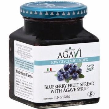 Casa Giulia Blueberry Fruit Spread with Agave Syrup, 11.64 oz, (Pack of 6)