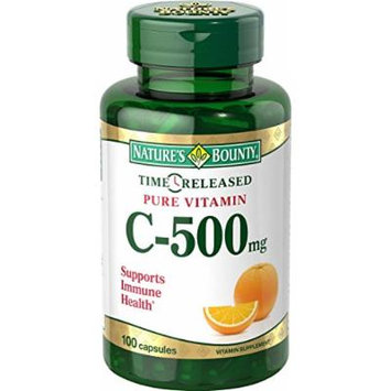 Nature's Bounty Vitamin C Time Release Capsules, 500 mg, 2 Count
