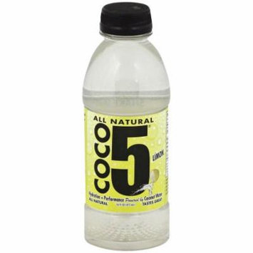 Coco5 Limon Coconut Water, 16 fl oz, (Pack of 12)