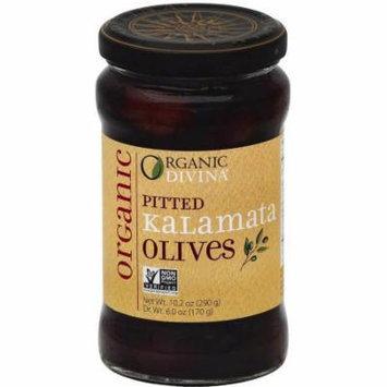 Divina Pitted Kalamata Organic Olives, 6 oz, (Pack of 6)