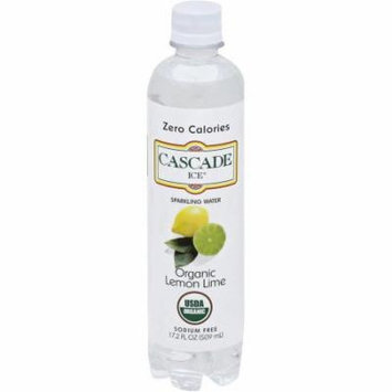 Cascade Ice Organic Lemon Lime Sparkling Water, 17.2 fl oz, (Pack of 12)