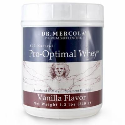 Dr. Mercola Pro-Optimal Whey Vanilla - All Natural - Powdered Dietary Supplement Drink Mix - No Artificial Sweeteners Or Flavors - 1.2 lb Jar (540g)