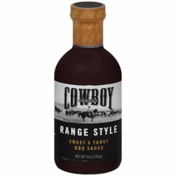 Cowboy Charcoal Sweet & Tangy Bbq Sauce, 18 oz, (Pack of 6)